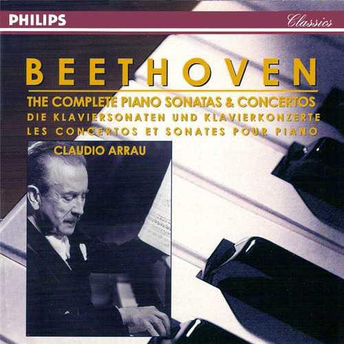 Arrau: Beethoven - The Complete Piano Sonatas & Concertos (14 CD box set, APE)