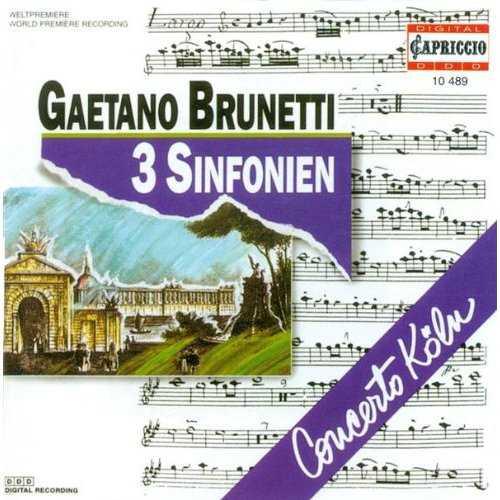 Concerto Koln: Gaetano Brunetti - 3 Sinfonien (FLAC)