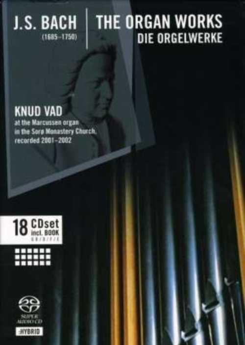 Knud Vad: Bach - The Organ Works (18 SACD box set, ISO)