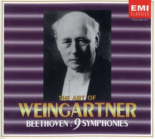 The Art of Weingartner: Beethoven - 9 Symphonies (5 CD box set, FLAC)