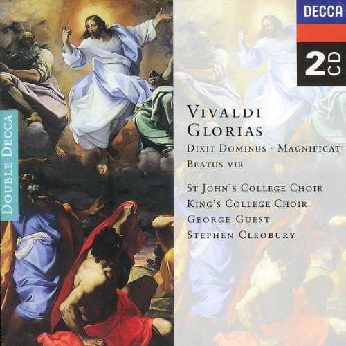 Guest, Ledger, Cleobury: Vivaldi - Glorias Dixit Dominus, Magnificat, Beatus Vir (2 CD, APE)