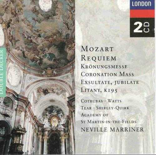 Marriner: Mozart - Requiem, Coronation Mass, Exsultate, Jubilate, Litany (2 CD, APE)