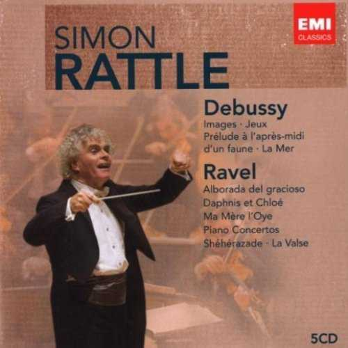 Simon Rattle conducts Debussy & Ravel (5 CD box set, APE)