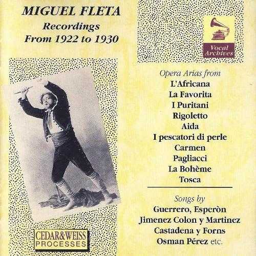 Miguel Fleta - Recordings from 1922 to 1930 (WAV)