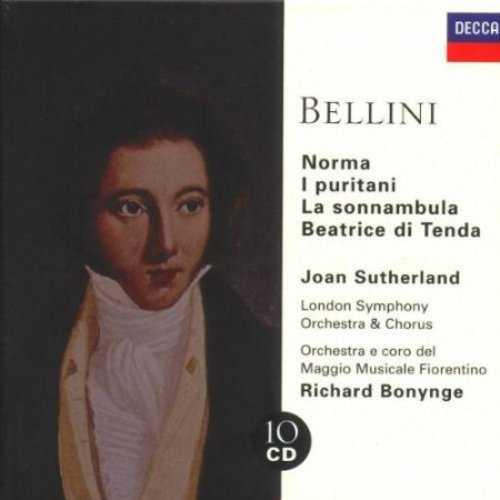 Bonynge, Sutherland: Bellini - Norma, I Puritani, Sonnambula (10 CD box set, APE)