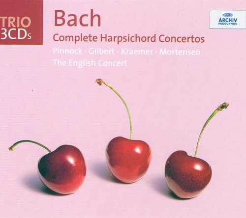 Pinnock: Bach - Complete Harpsichord Concertos (3 CD box set, FLAC)