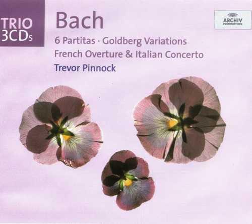 Pinnock: Bach - 6 Partitas, Goldberg Variations, French Overture, Italian Concerto (3 CD box set, FLAC)