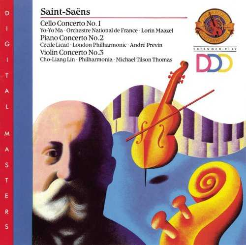 Saint-Saëns - Cello Concerto no.1, Piano Concerto no.2, Violin Concerto no.3 (FLAC)
