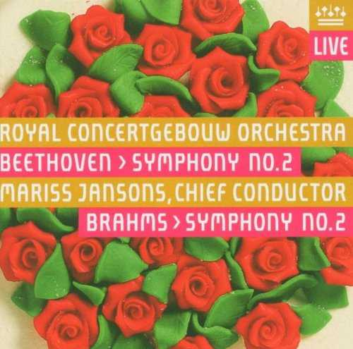Jansons: Beethoven - Symphony no,2, Brahms - Symphony no.2 (SACD, ISO)