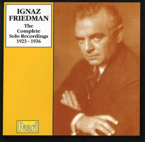 Ignaz Friedman - The Complete Solo Recordings 1923-1936 (4 CD box set, APE)