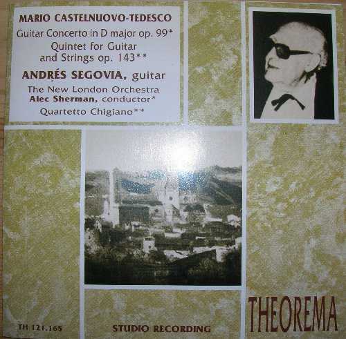 Segovia - Castelnuovo-Tedesco (APE)