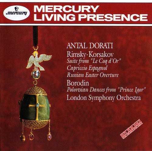 Dorati: Rimsky-Korsakov - Suite from Le Coq D'Or, Capriccio Espagnol, Russian Easter Overture; Borodin - Polovtsian Dances from Prince Igor (APE)