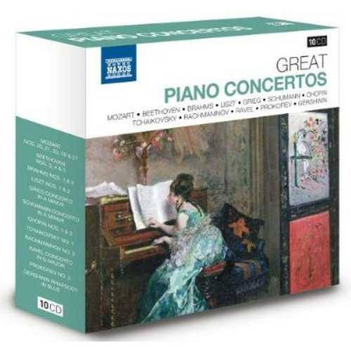 Naxos 25th Anniversary. Great Piano Concertos (10 CD box set FLAC)