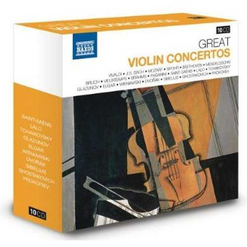 Naxos 25th Anniversary. Great Violin Concertos (10 CD box set FLAC)