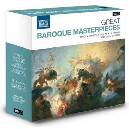 Naxos 25th Anniversary. Great Baroque Masterpieces (10 CD box set FLAC)
