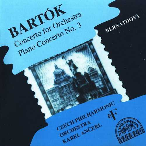 Ancerl: Bartok - Concerto for Orchestra, Piano concerto no.3 (FLAC)