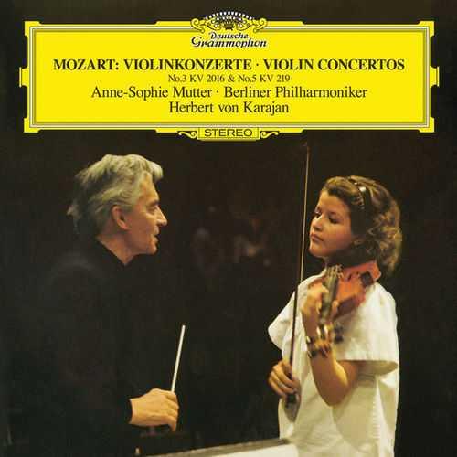 Mutter, Karajan: Mozart - Violin Concertos no.3 KV 216, no.5 KV 219 (24/96 FLAC)