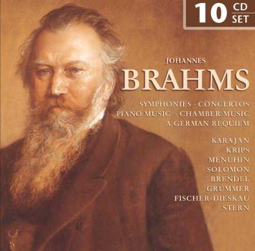 Johannes Brahms - Symphonies, Concertos, Piano Music, Chamber Music, A German Requiem (FLAC)