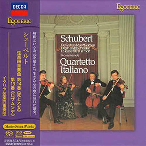 "Quartetto Italiano: Schubert - String Quartets no.13 ""Rosamunde"", no.14 ""Death and the Maiden"" (SACD)"