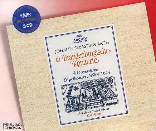 Richter: Bach - 6 Brandenburg Concertos, 4 Orchestral Suites (Ouvertures), Triple Concert (24/96 FLAC)
