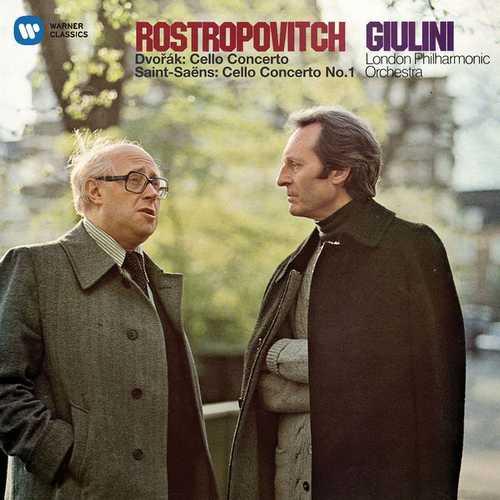 Rostropovich, Giulini: Dvorak, Saint-Saëns - Cello Concertos (24/96 FLAC)