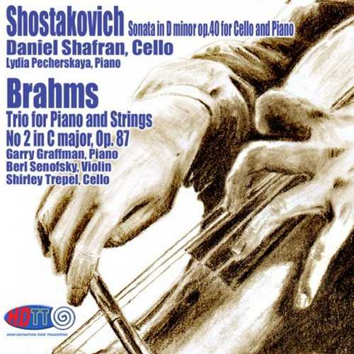 Shostakovich: Sonata for Cello and Piano, Brahms: Trio for Piano and Strings no.2 (24/192 FLAC)