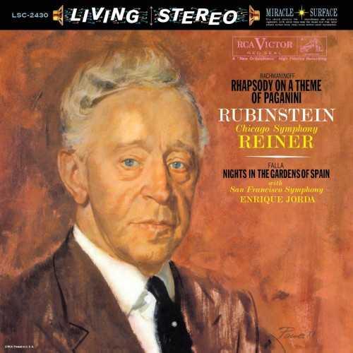 Rubinstein, Reiner, Jorda: Rachmaninoff - Rhapsody on a Theme of Paganini, Falla - Nights in the Gardens of Spain (LP)