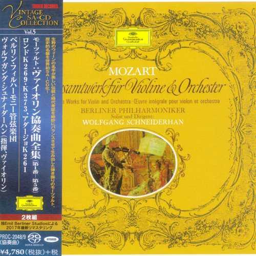 Schneiderhan: Mozart - 5 Violin Concertos (SACD)