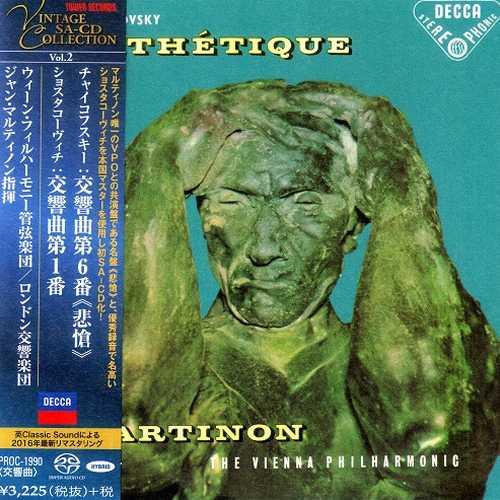 Martinon: Tchaikovsky - Symphony no.6, Shostakovich - Symphony no.1 (SACD)