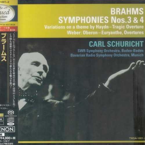 Schuricht: Brahms - Symphonies no.3 & 4 (SACD)
