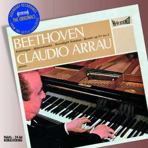 Arrau: Beethoven - Piano Sonatas no.8, 23, & 14 (FLAC)