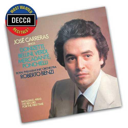 José Carreras Sings Donizetti, Bellini, Verdi, Mercadente, Ponchielli (FLAC)