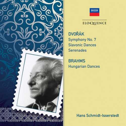 Schmidt-Isserstedt: Dvořák - Symphony no.7, Slavonic Dances, Serenades, Brahms - Hungarian Dances (FLAC)