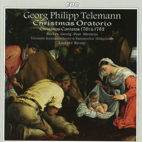 Rémy: Telemann - Christmas Oratorio, Christmas Cantatas 1761 & 1762 (FLAC)