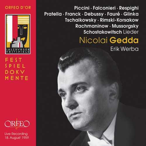 Nicolai Gedda - Lieder. Live 1959 (FLAC)