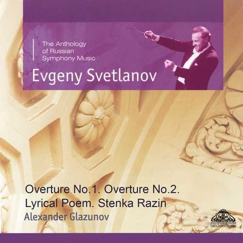 Svetlanov: Glazunov - Overture no.1 & 2, Lyrical Poem, Stenka Razin (FLAC)