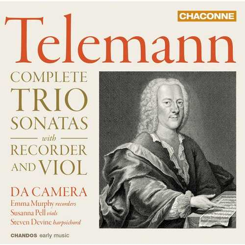Da Camera: Telemann - Complete Trio Sonatas with Recorder and Violin (24/96 FLAC)
