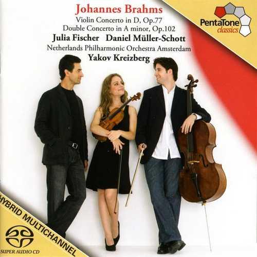 Fischer, Müller-Schott, Kreizberg: Brahms - Violin Concerto & Double Concerto (24/192 FLAC)