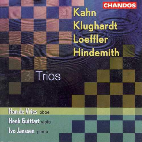 Vries, Guittart, Janssen: Kahn, Klughardt, Loeffler, Hindemith - Trios (FLAC)
