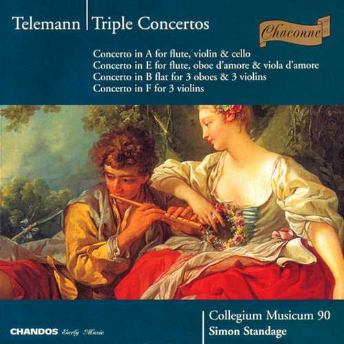Standage: Telemann - Triple Concertos (FLAC)