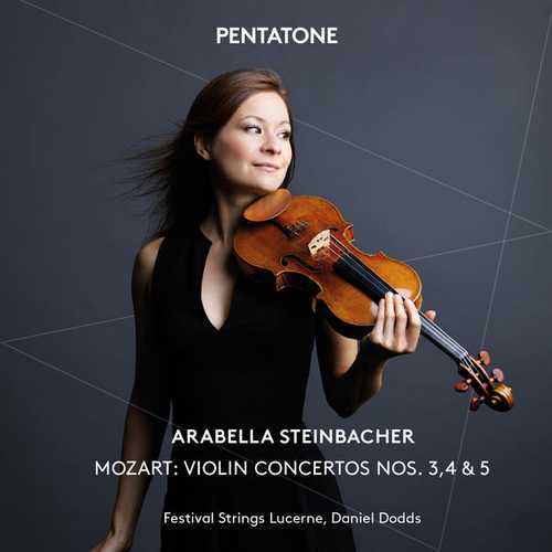 Steinbacher, Dodds: Mozart - Violin Concertos no.3, 4 & 5 (24/96 FLAC)