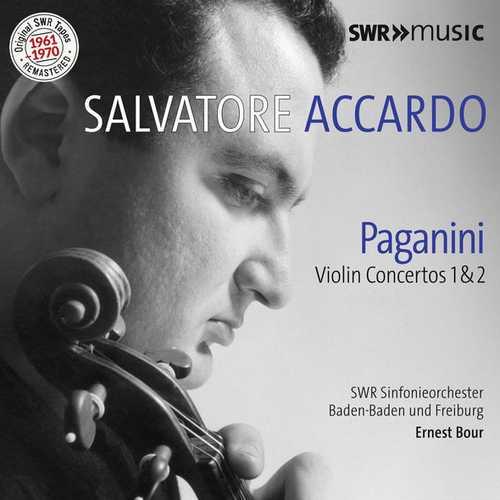 Accardo, Bour: Paganini - Violin Concertos no.1 & 2 (FLAC)