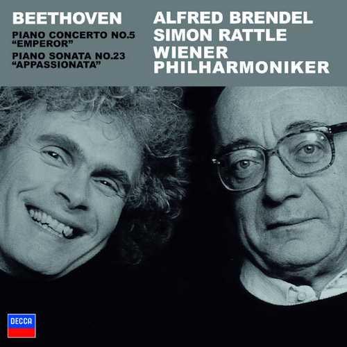 Brendel, Rattle: Beethoven - Piano Concerto no.5, Piano Sonata no.23 (FLAC)