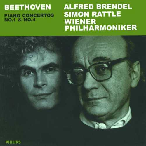Brendel, Rattle: Beethoven - Piano Concertos no.1 & 4 (FLAC)