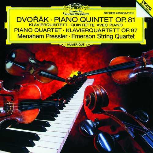Pressler, Emerson String Quartet: Dvořák - Piano Quintet op.81, Piano Quartet op.87 (FLAC)